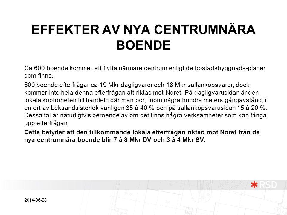 EFFEKTER AV NYA CENTRUMNÄRA BOENDE