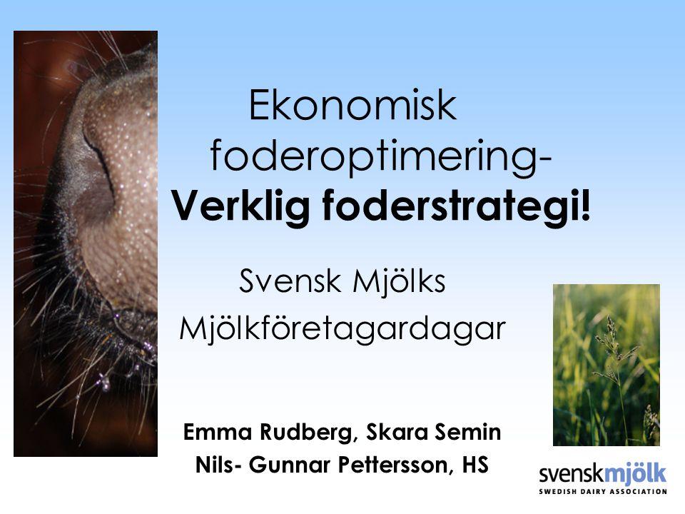 Ekonomisk foderoptimering- Verklig foderstrategi!