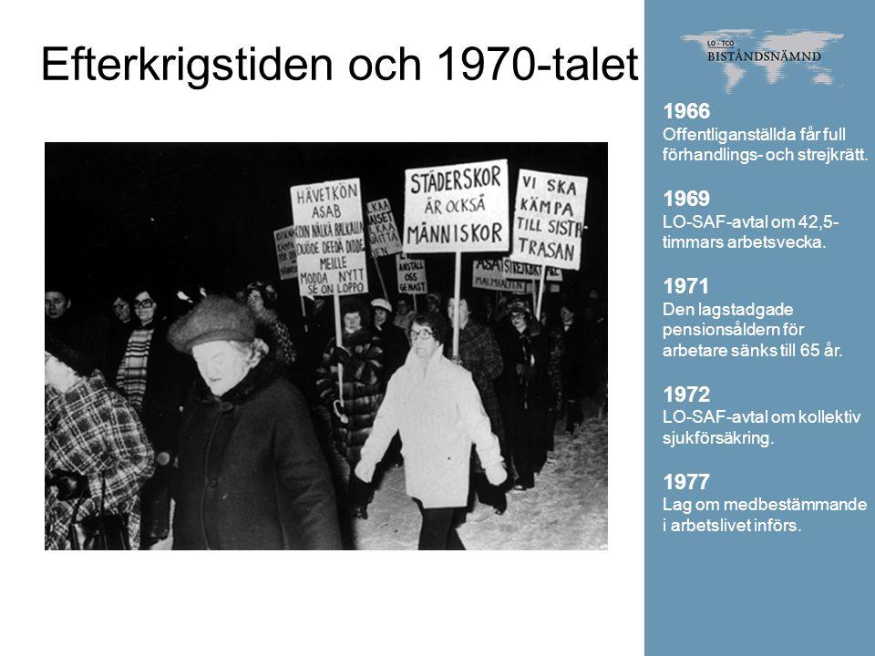 Efterkrigstiden och 1970-talet