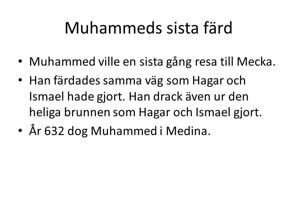 Muhammeds sista färd Muhammed ville en sista gång resa till Mecka.