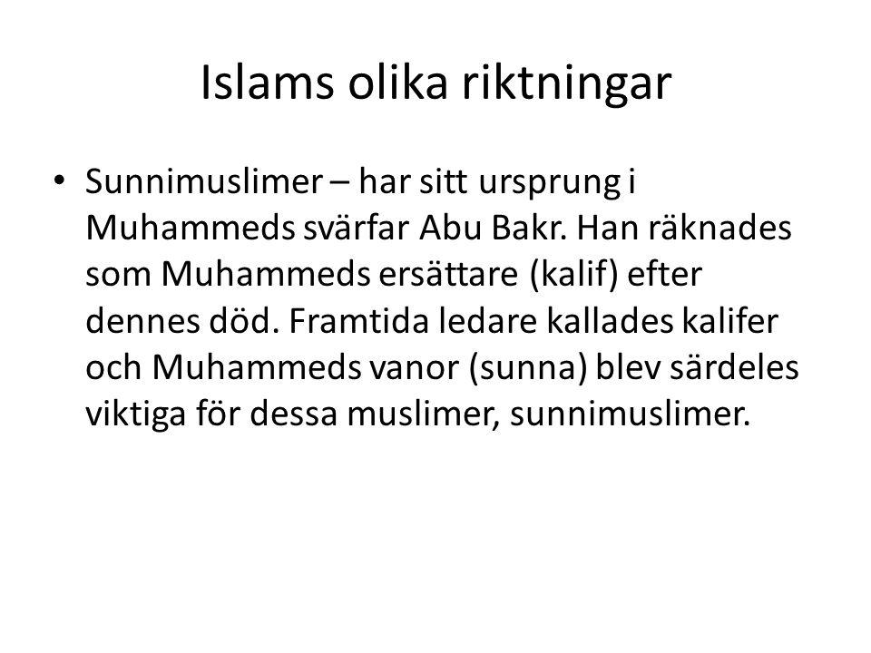 Islams olika riktningar