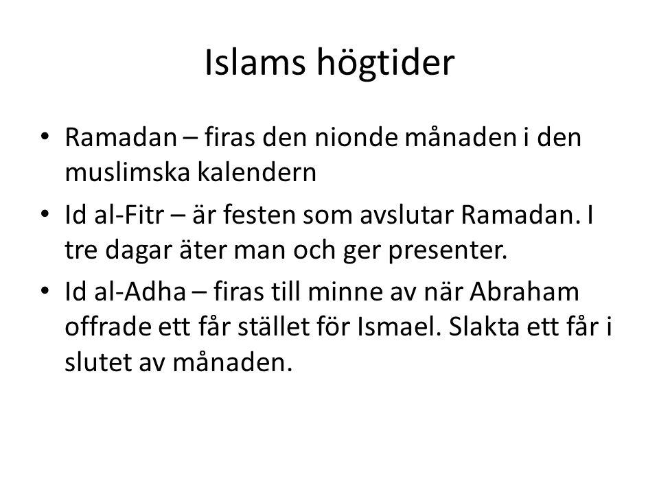 Islams högtider Ramadan – firas den nionde månaden i den muslimska kalendern.
