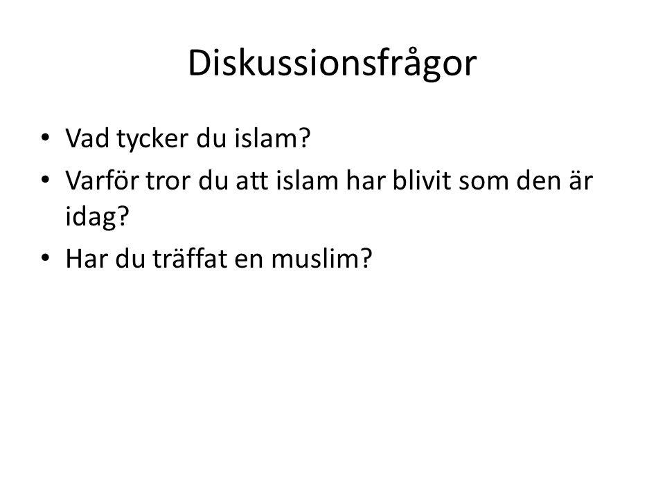 Diskussionsfrågor Vad tycker du islam
