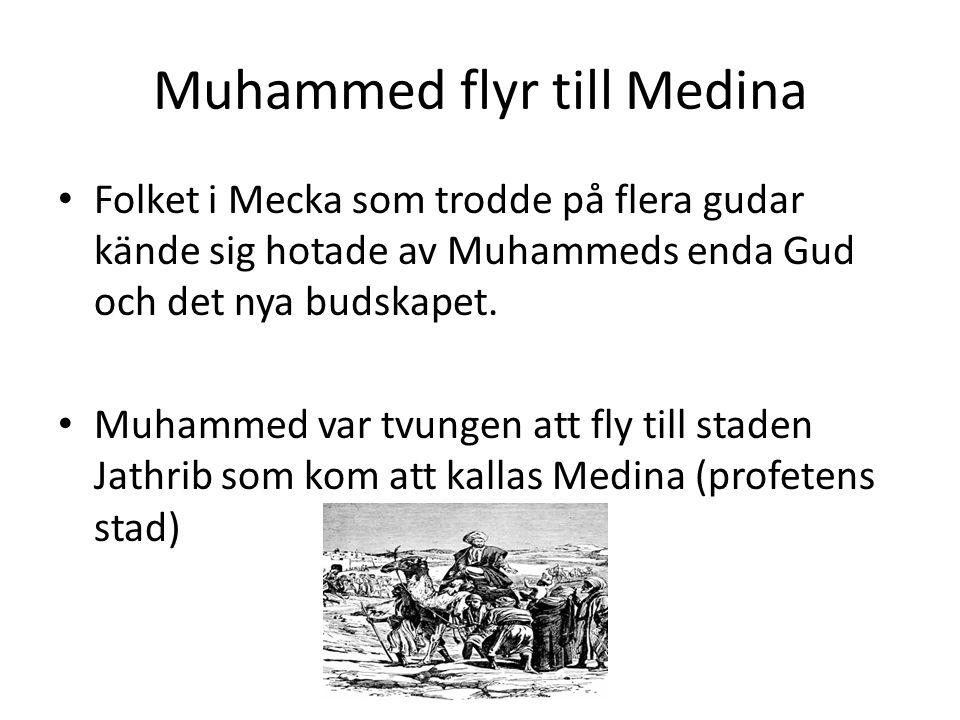 Muhammed flyr till Medina