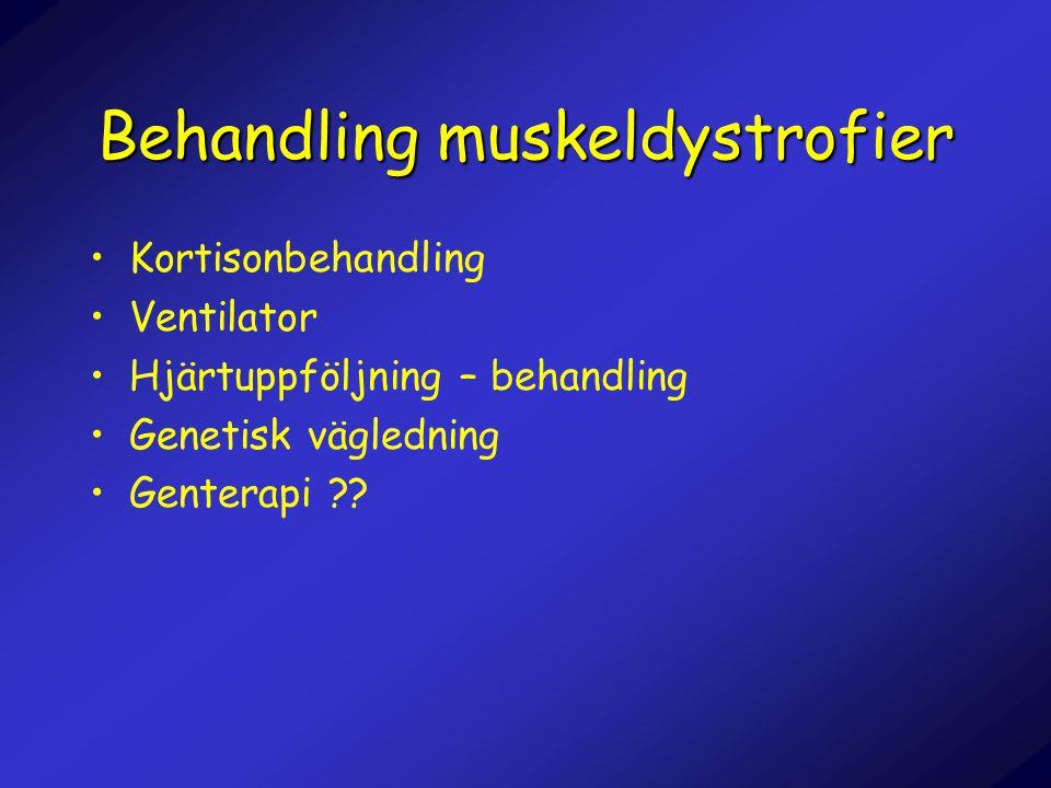 Behandling muskeldystrofier