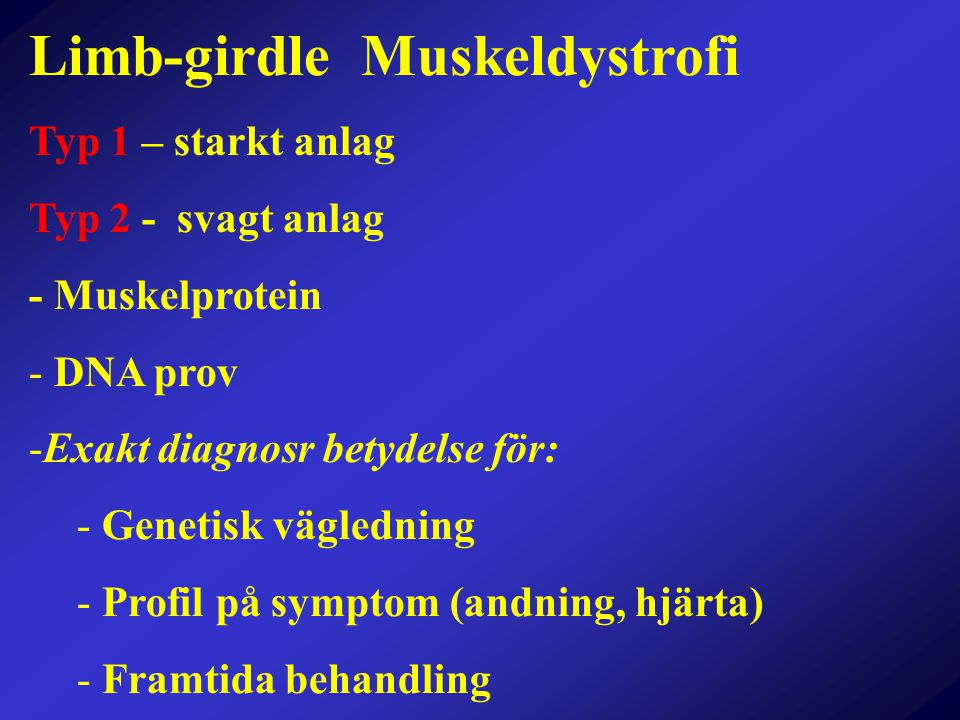 Limb-girdle Muskeldystrofi