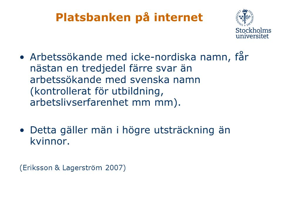 Platsbanken på internet