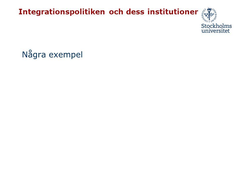 Integrationspolitiken och dess institutioner