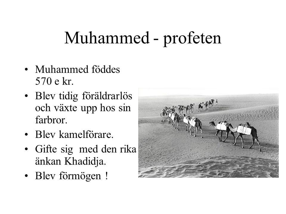 Muhammed - profeten Muhammed föddes 570 e kr.