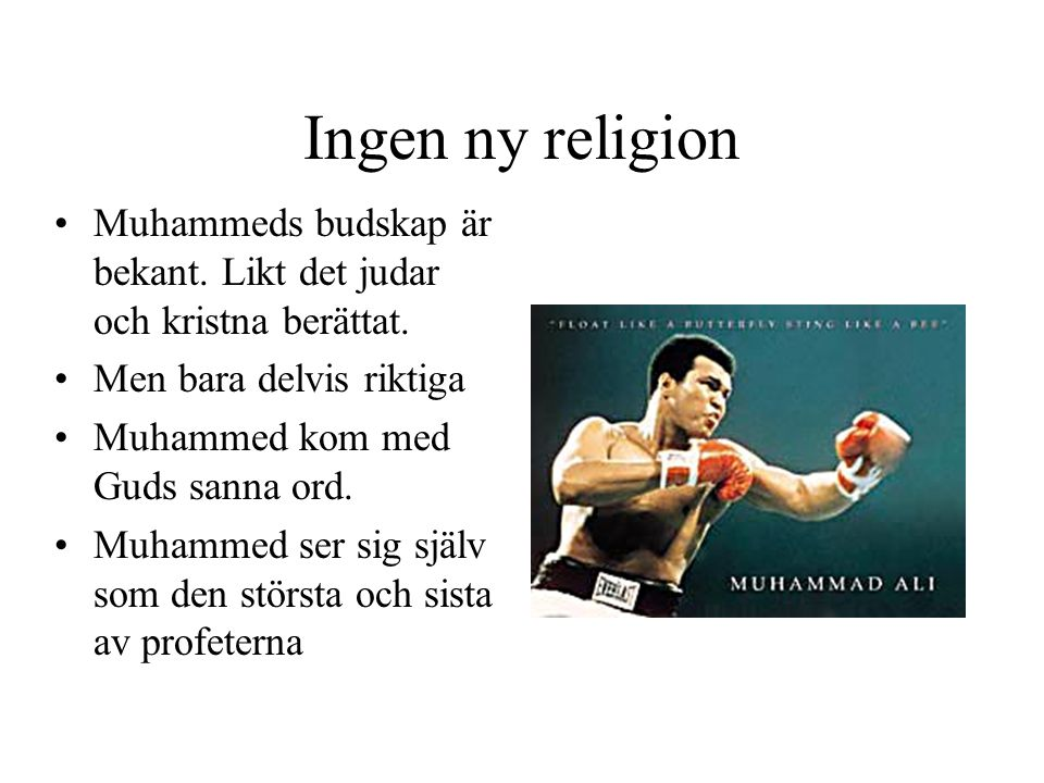 Ingen ny religion Muhammeds budskap är bekant. Likt det judar och kristna berättat. Men bara delvis riktiga.
