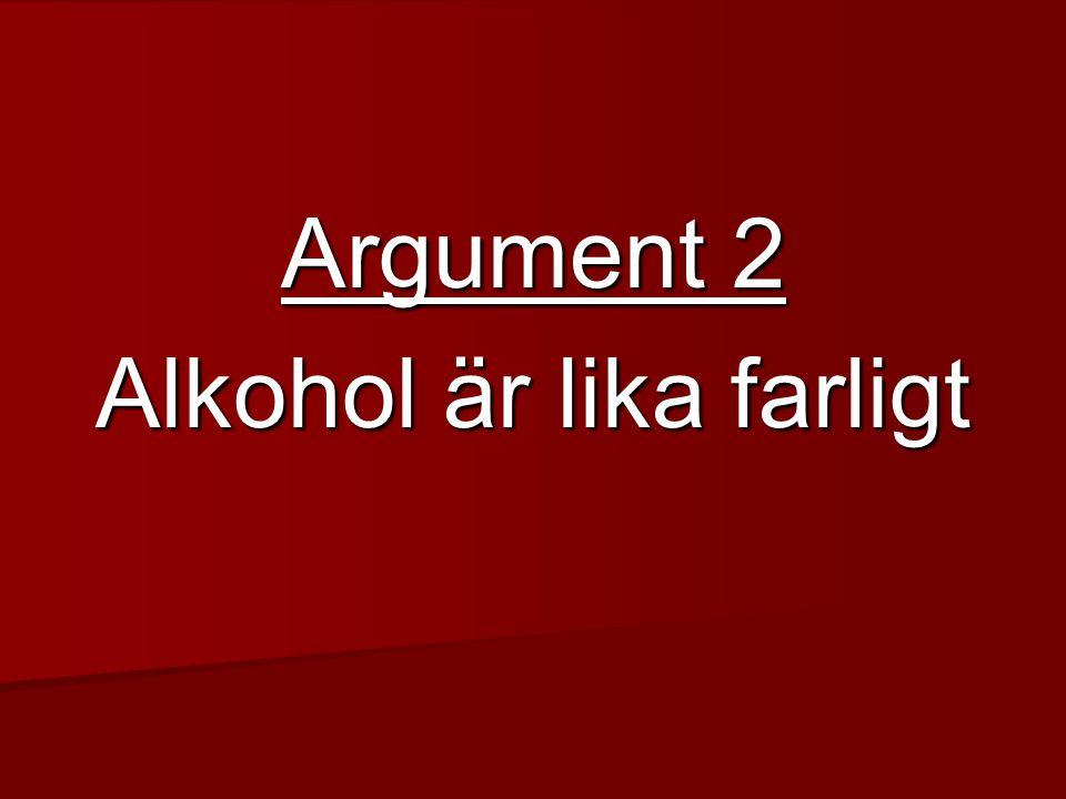 Alkohol är lika farligt