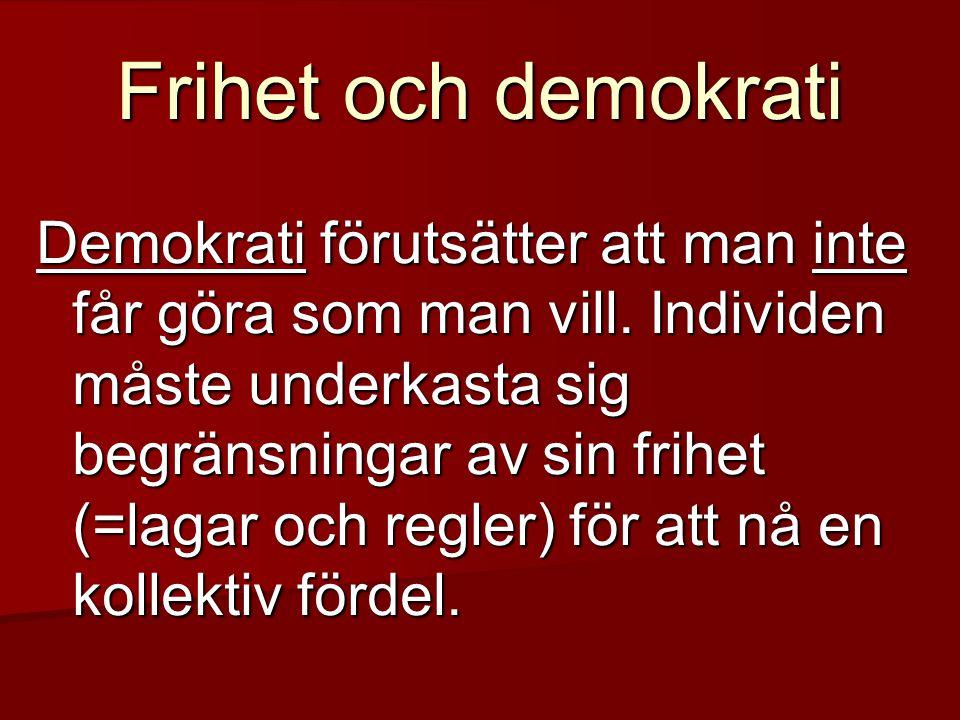 Frihet och demokrati
