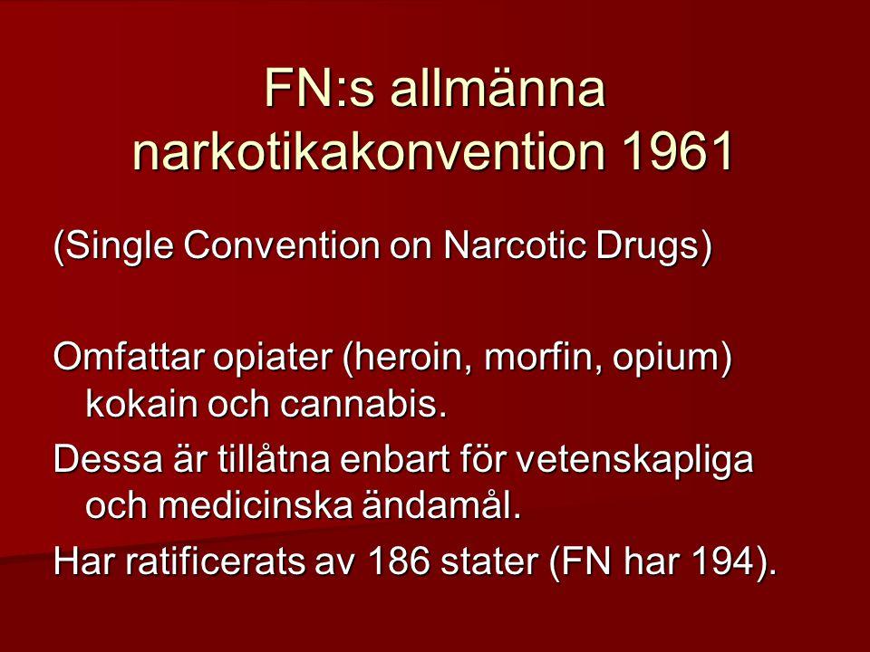 FN:s allmänna narkotikakonvention 1961