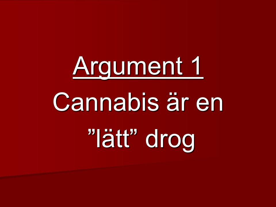Argument 1 Cannabis är en lätt drog