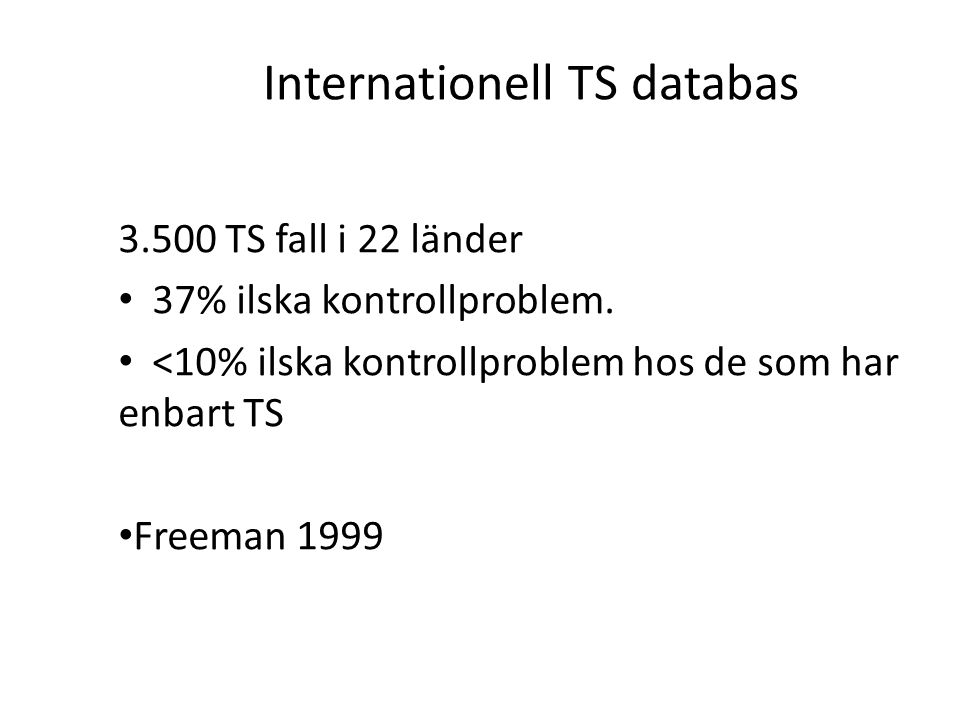 Internationell TS databas