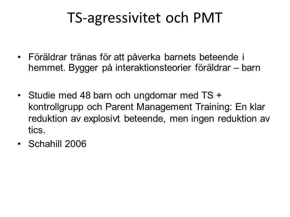 TS-agressivitet och PMT