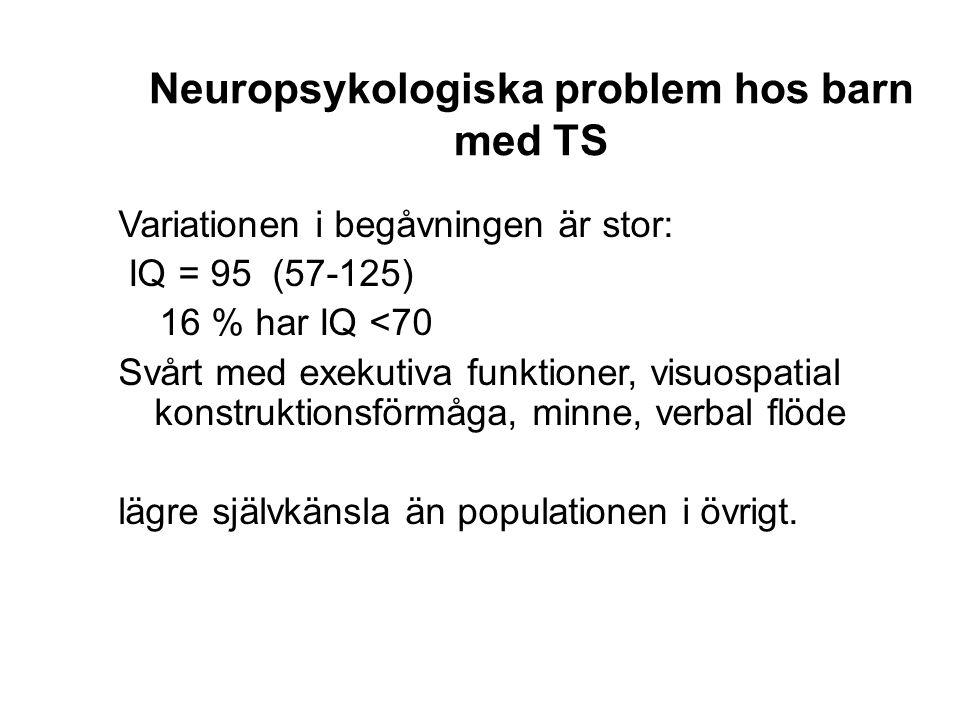 Neuropsykologiska problem hos barn med TS