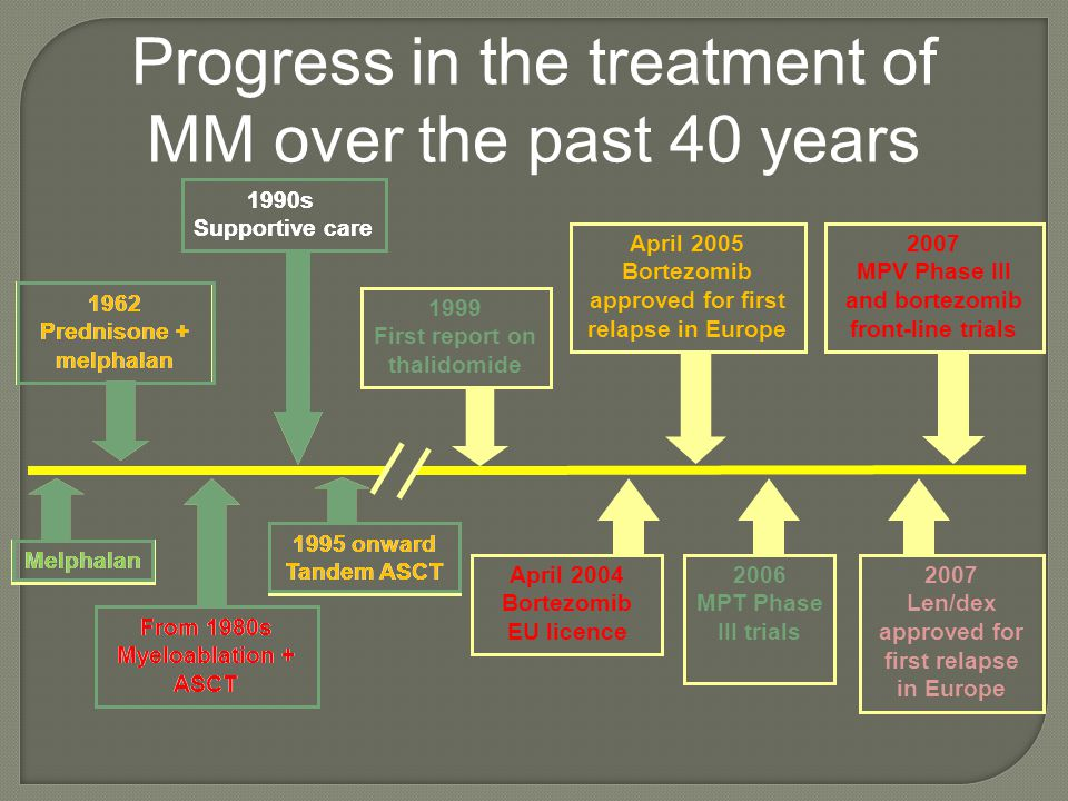 Progress in the treatment of MM over the past 40 years