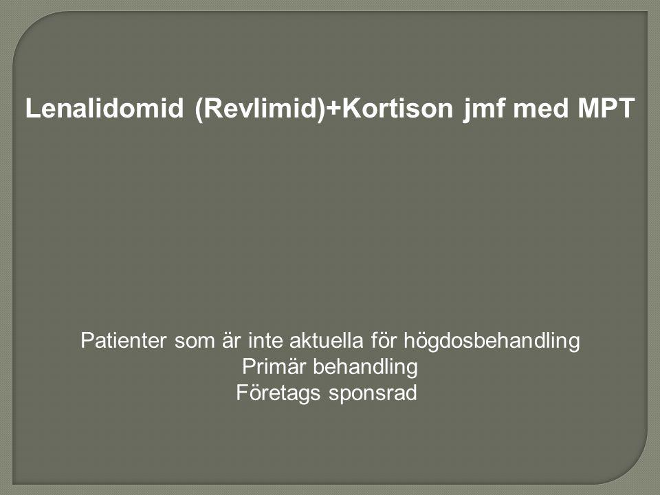 Lenalidomid (Revlimid)+Kortison jmf med MPT