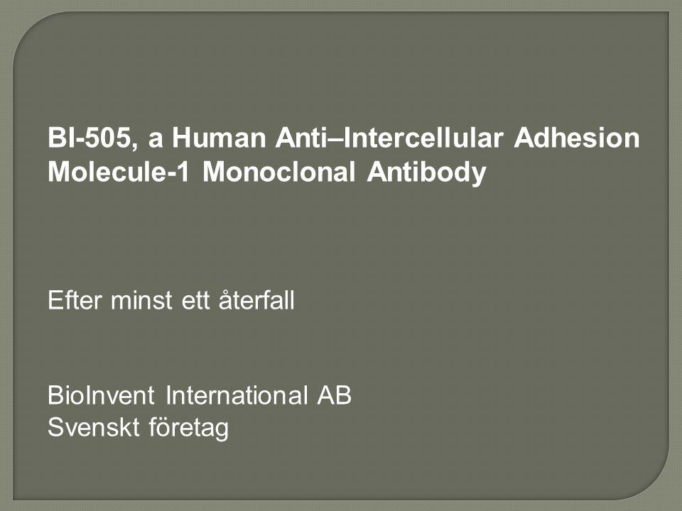 BI-505, a Human Anti–Intercellular Adhesion Molecule-1 Monoclonal Antibody