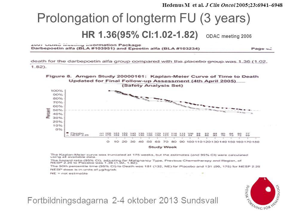 Hedenus M et al. J Clin Oncol 2005;23:6941–6948