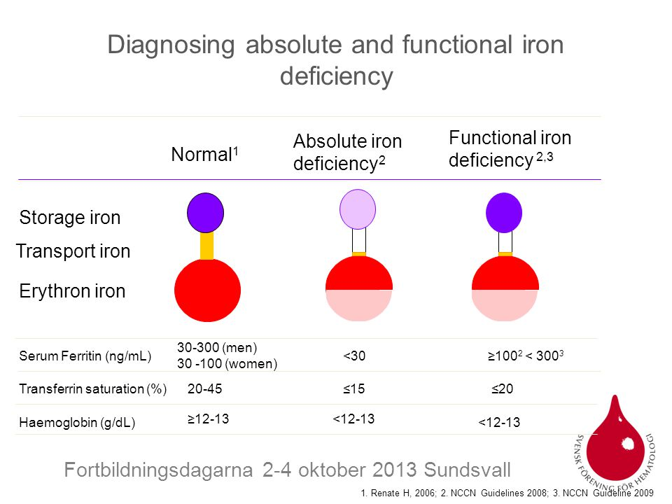 Diagnosing absolute and functional iron deficiency
