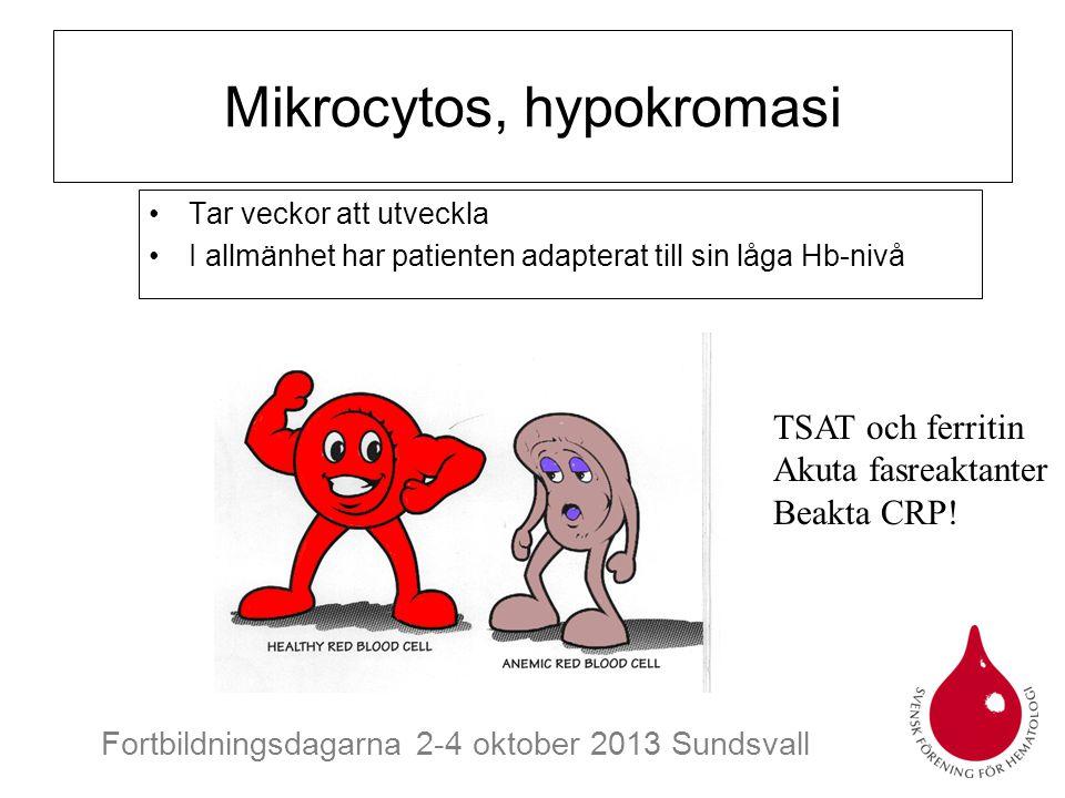 Mikrocytos, hypokromasi