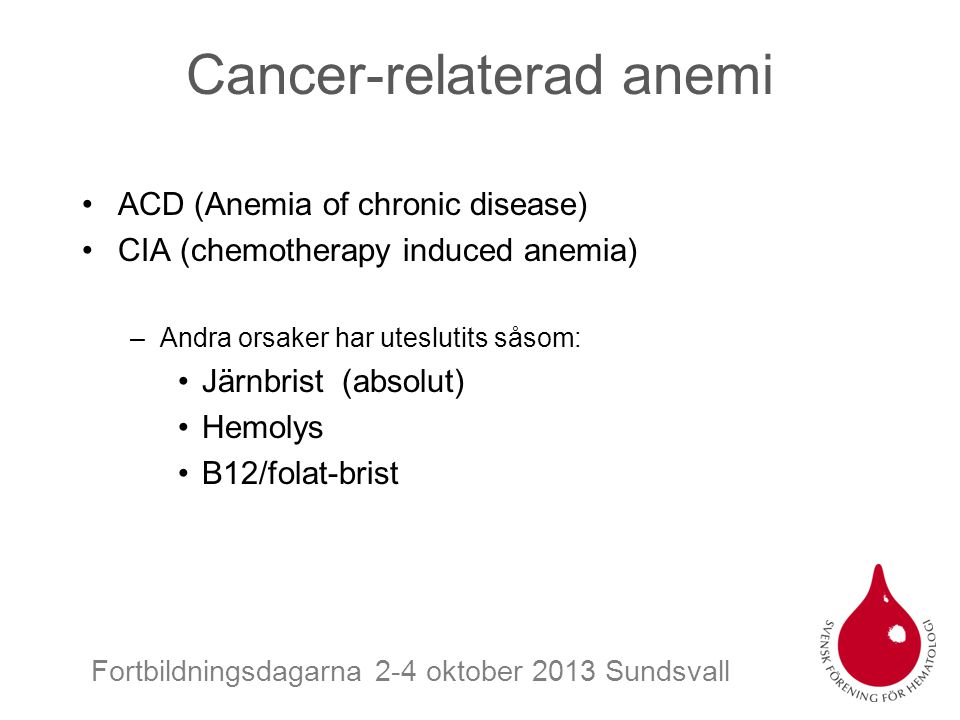 Cancer-relaterad anemi