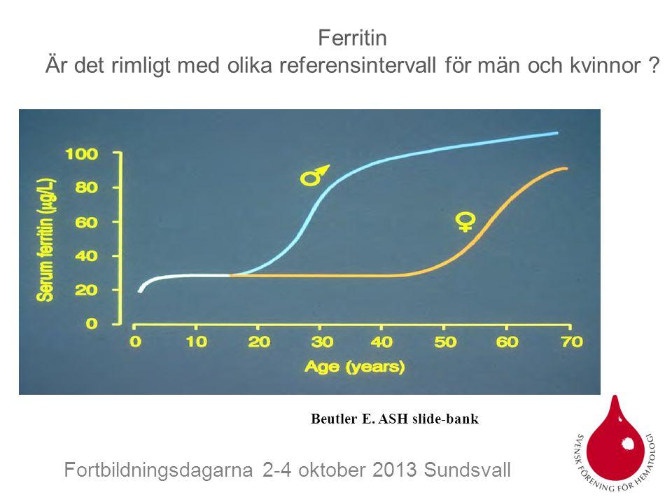 Ferritin Är det rimligt med olika referensintervall för män och kvinnor