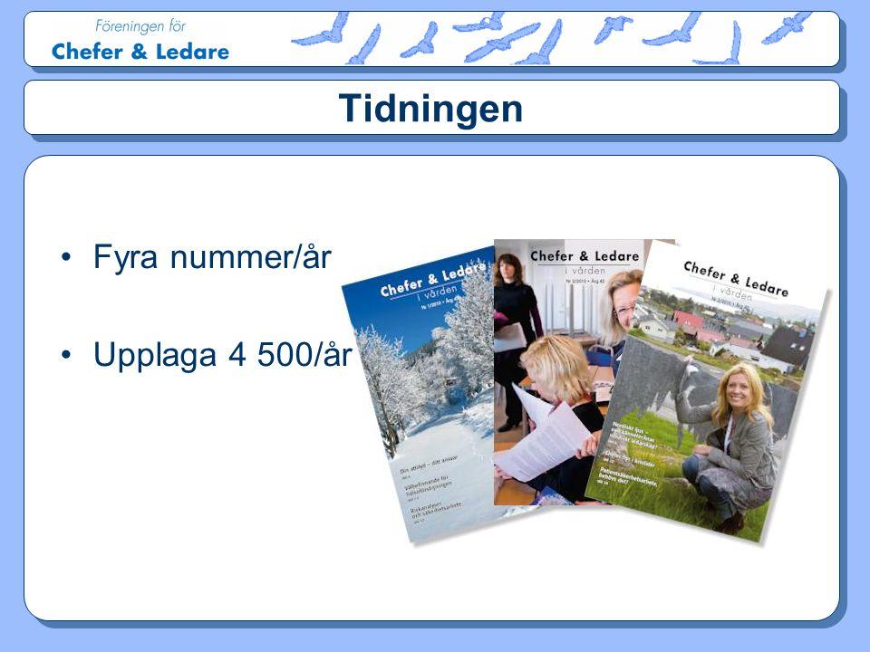 Tidningen Fyra nummer/år Upplaga 4 500/år