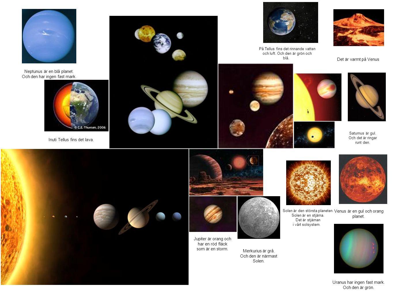 Neptunus är en blå planet. Och den har ingen fast mark.