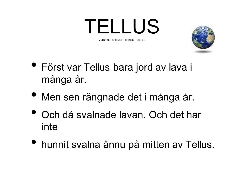 TELLUS Varför det är lava i mitten av Tellus: