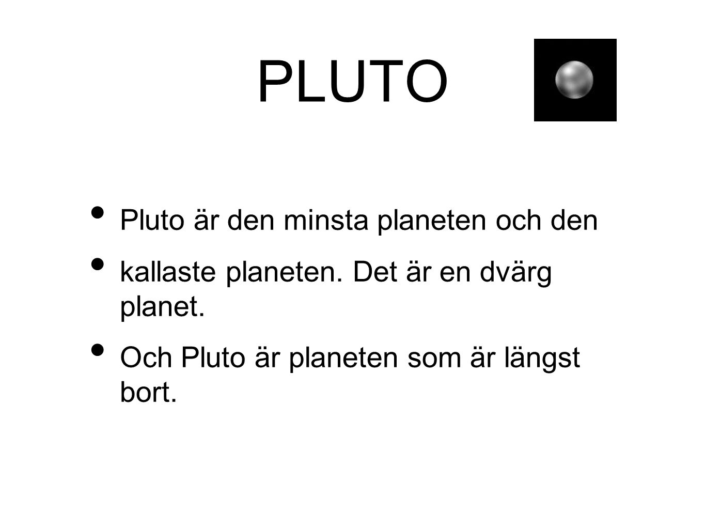 PLUTO Pluto är den minsta planeten och den