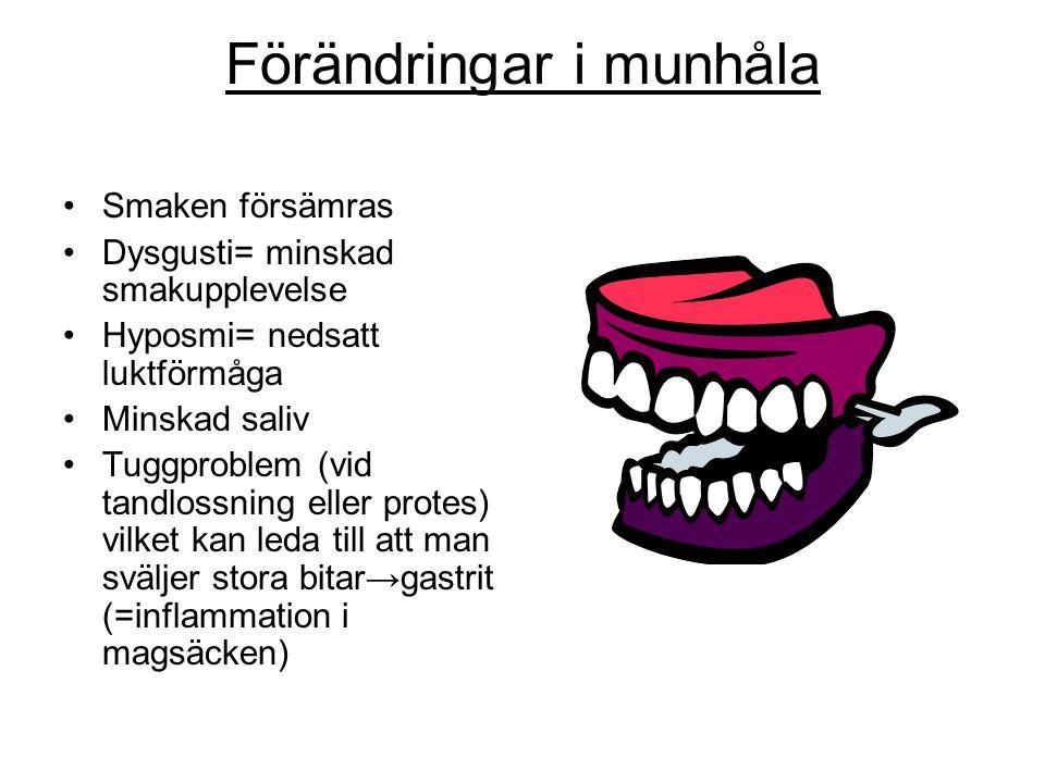 Förändringar i munhåla