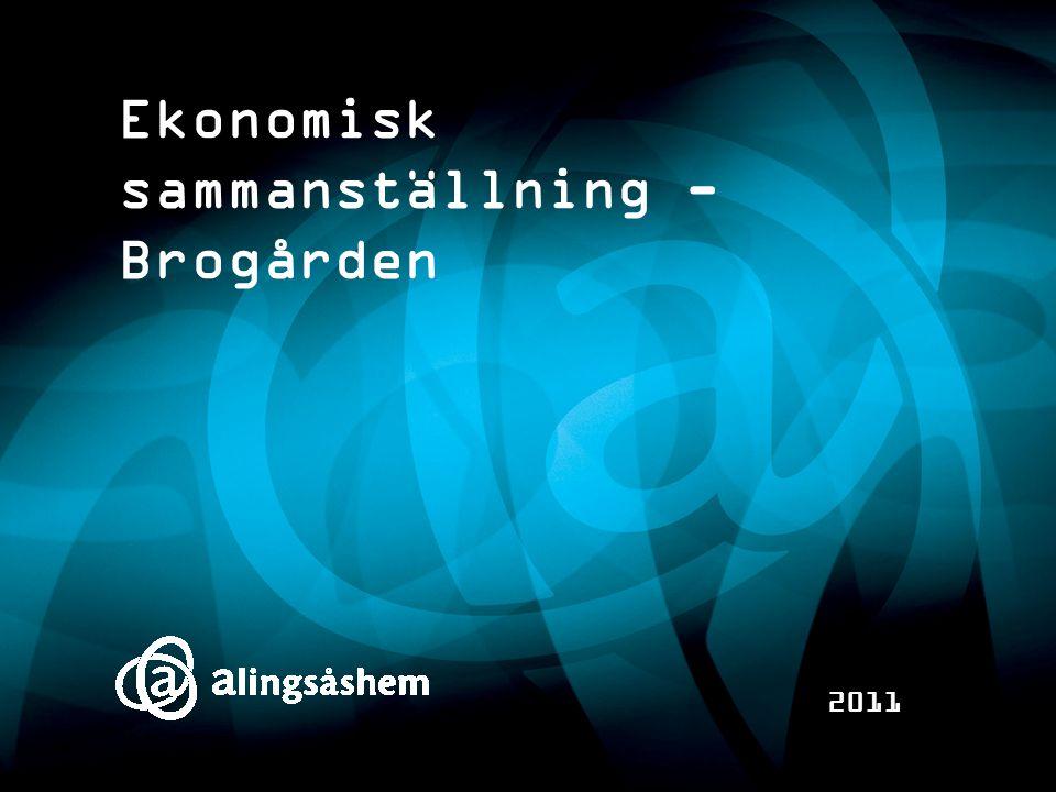 Ekonomisk sammanställning - Brogården