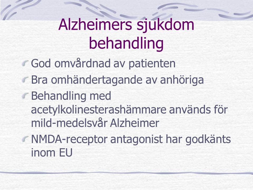 Alzheimers sjukdom behandling