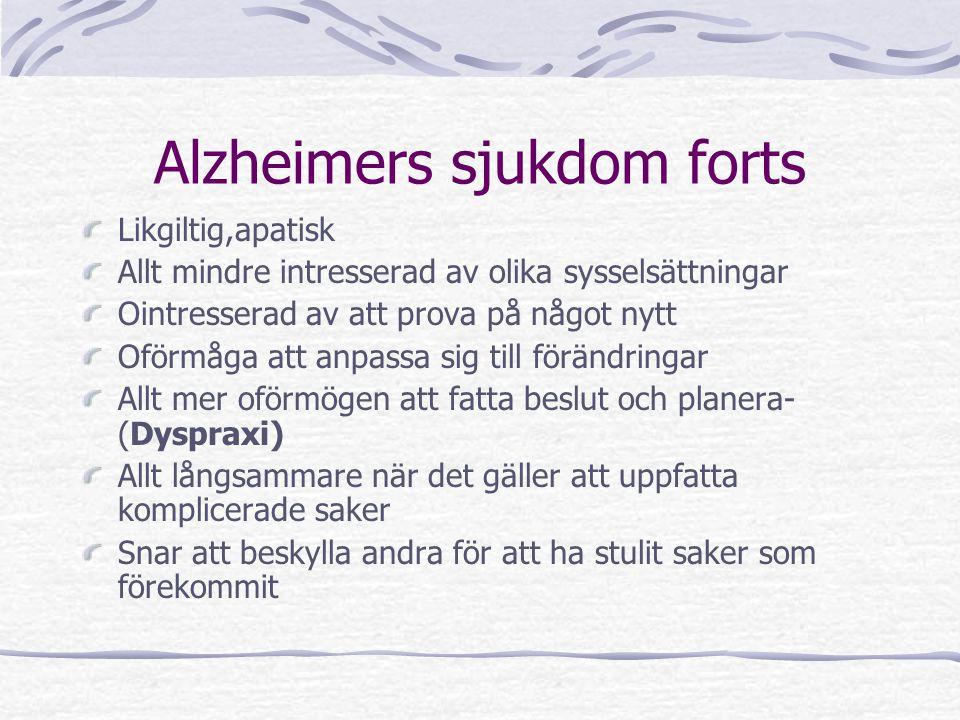 Alzheimers sjukdom forts