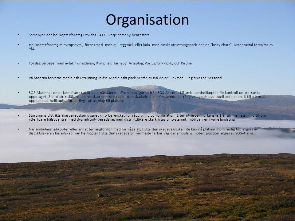 Organisation Samebyar och helikopterföretag utbildas i AXG. Varje sameby heart start.
