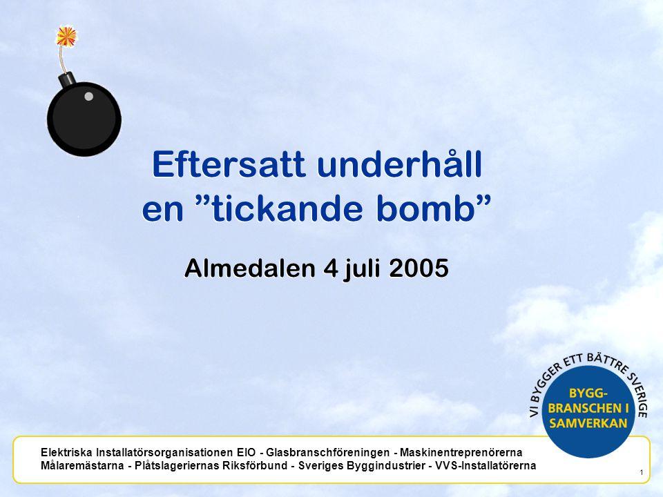 Eftersatt underhåll en tickande bomb Almedalen 4 juli 2005