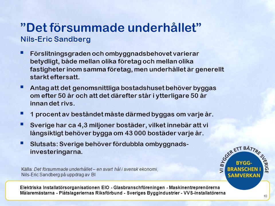 Det försummade underhållet Nils-Eric Sandberg