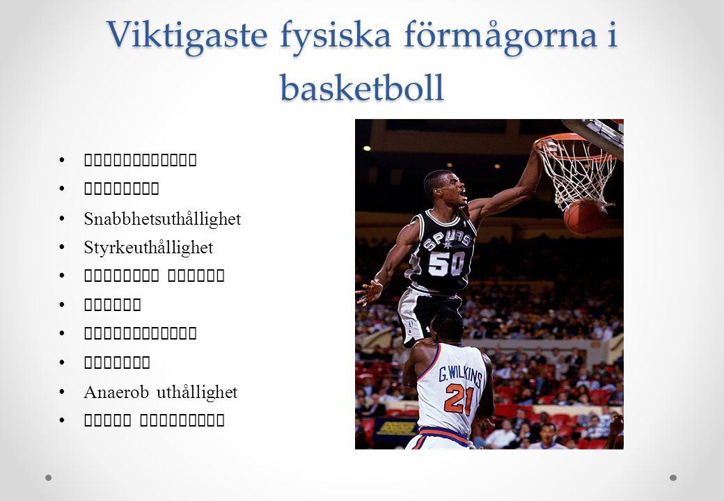 Viktigaste fysiska förmågorna i basketboll