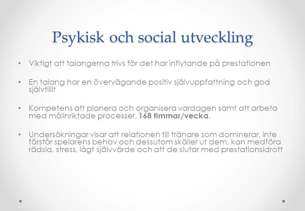 Psykisk och social utveckling