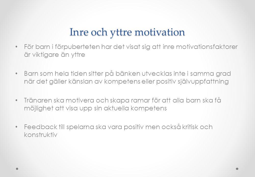 Inre och yttre motivation