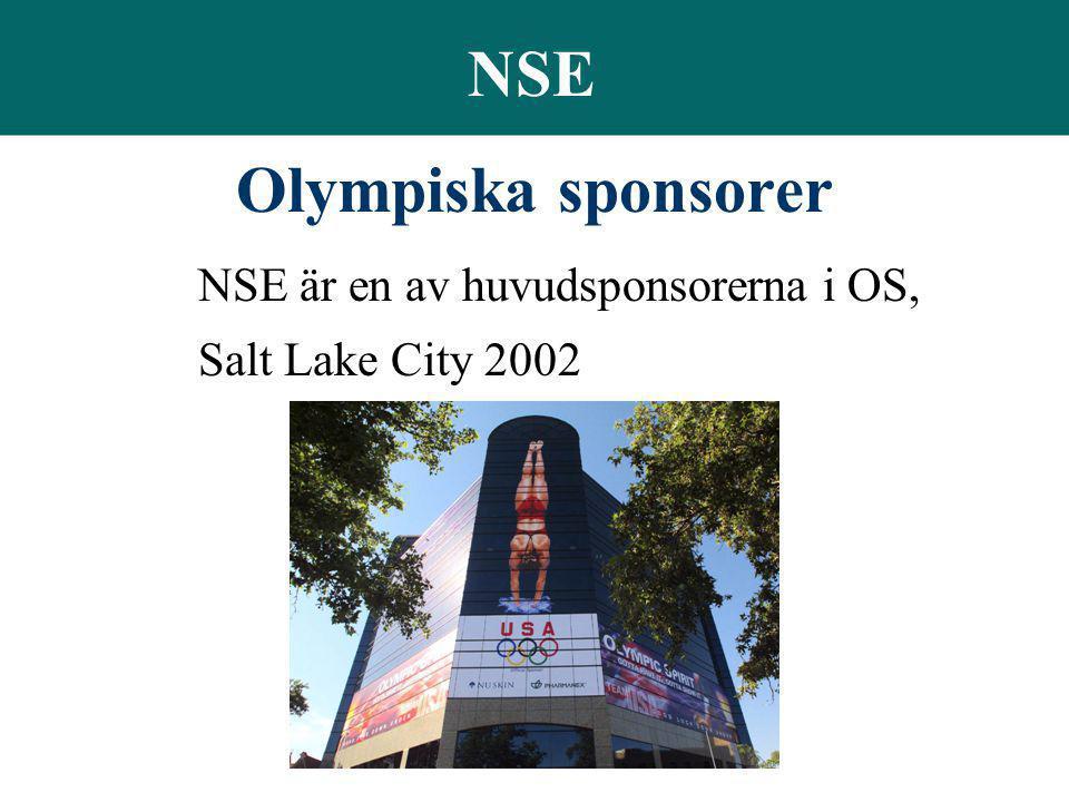NSE Olympiska sponsorer NSE är en av huvudsponsorerna i OS,