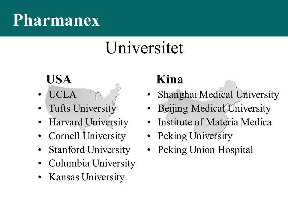 Pharmanex Universitet USA Kina UCLA Tufts University