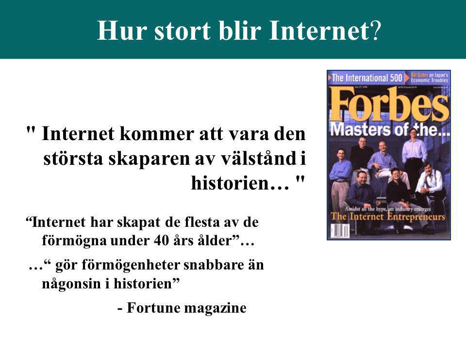 Hur stort blir Internet