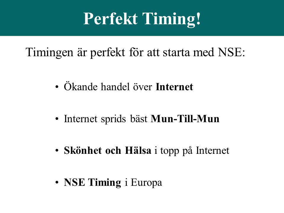 Perfekt Timing! Timingen är perfekt för att starta med NSE: