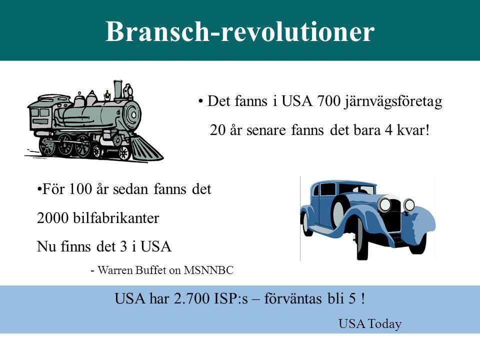 Bransch-revolutioner