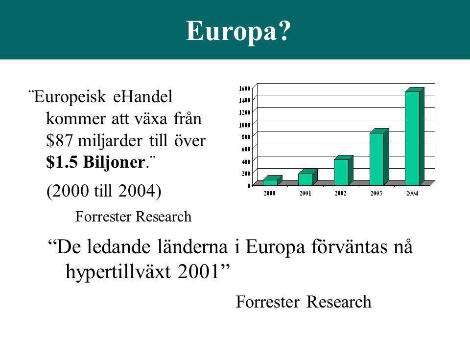 Europa De ledande länderna i Europa förväntas nå hypertillväxt 2001
