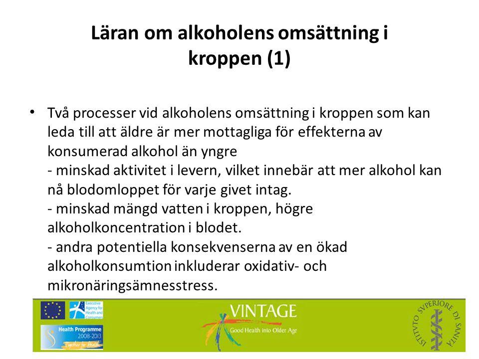 Läran om alkoholens omsättning i kroppen (1)